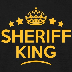 sheriff king keep calm style crown stars T-SHIRT - Men's T-Shirt