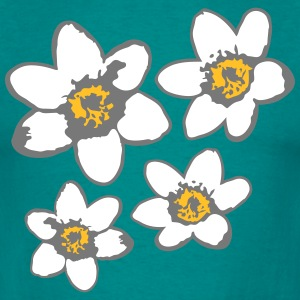 pattern design flower beautiful daisy flower butte T-Shirts - Men's T-Shirt
