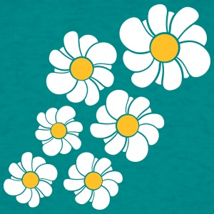 pattern design blue flower daisy buttercup daisy b T-Shirts - Men's T-Shirt