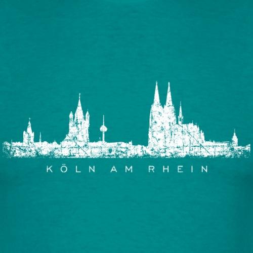Köln am Rhein Skyline Vintage Weiß