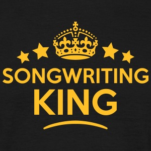 songwriting king keep calm style crown s T-SHIRT - Men's T-Shirt