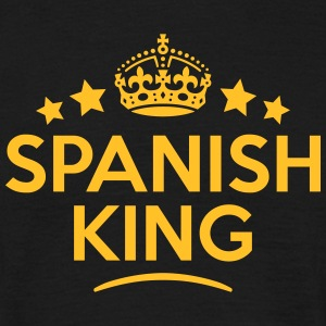 spanish king keep calm style crown stars T-SHIRT - Men's T-Shirt
