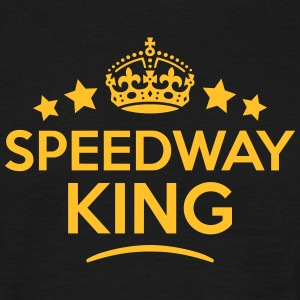 speedway king keep calm style crown star T-SHIRT - Men's T-Shirt