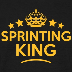 sprinting king keep calm style crown sta T-SHIRT - Men's T-Shirt