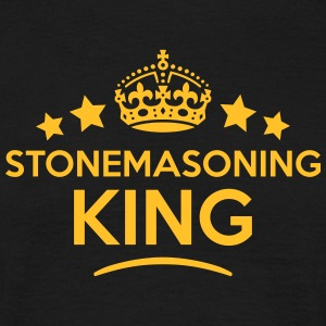 stonemasoning king keep calm style crown T-SHIRT - Men's T-Shirt