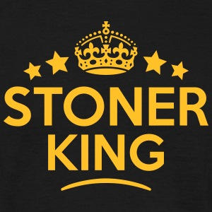 stoner king keep calm style crown stars T-SHIRT - Men's T-Shirt