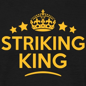 striking king keep calm style crown star T-SHIRT - Men's T-Shirt