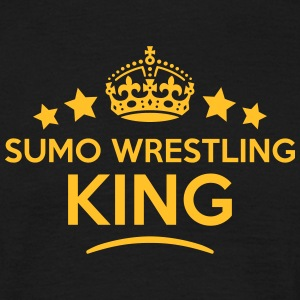 sumo wrestling king keep calm style crow T-SHIRT - Men's T-Shirt