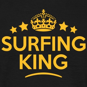surfing king keep calm style crown stars T-SHIRT - Men's T-Shirt