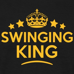 swinging king keep calm style crown star T-SHIRT - Men's T-Shirt