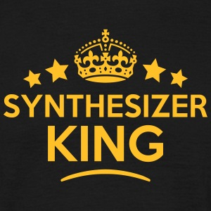 synthesizer king keep calm style crown s T-SHIRT - Men's T-Shirt