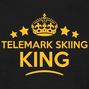 telemark skiing king keep calm style  T-SHIRT - Men's T-Shirt
