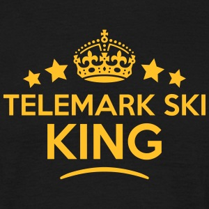 telemark ski king keep calm style crown  T-SHIRT - Men's T-Shirt