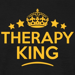 therapy king keep calm style crown stars T-SHIRT - Men's T-Shirt