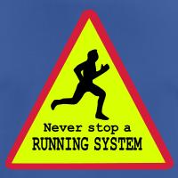 "Nerd T-Shirts mit ""Never stop running"""