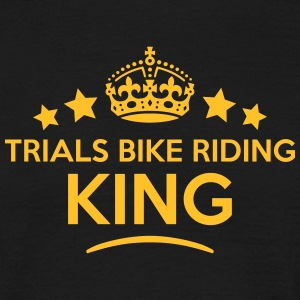trials bike riding king keep calm style  T-SHIRT - Men's T-Shirt