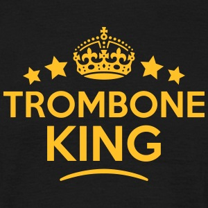 trombone king keep calm style crown star T-SHIRT - Men's T-Shirt