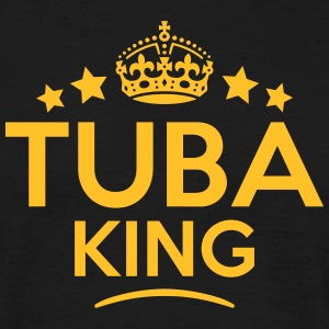 tuba king keep calm style crown stars T-SHIRT - Men's T-Shirt