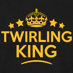 twirling king keep calm style crown star T-SHIRT - Men's T-Shirt