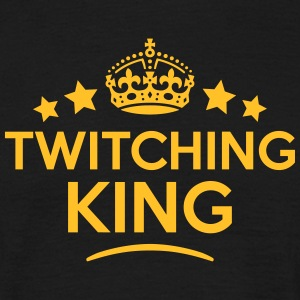 twitching king keep calm style crown sta T-SHIRT - Men's T-Shirt