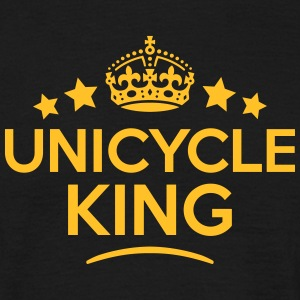unicycle king keep calm style crown star T-SHIRT - Men's T-Shirt