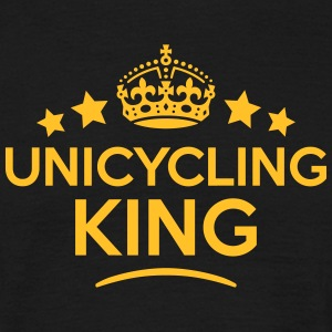 unicycling king keep calm style crown st T-SHIRT - Men's T-Shirt