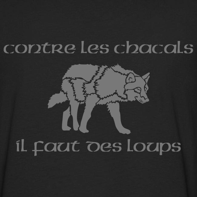 "T-shirt ML Homme ""Loup Vs Chacal"" + KDL"