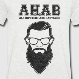 ALL HIPSTERS ARE BASTARDS - Funny Parody  T-Shirts - Men's V-Neck T-Shirt