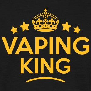 vaping king keep calm style crown stars T-SHIRT - Men's T-Shirt