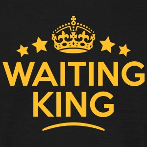 waiting king keep calm style crown stars T-SHIRT - Men's T-Shirt