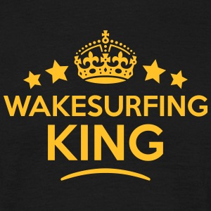 wakesurfing king keep calm style crown s T-SHIRT - Men's T-Shirt