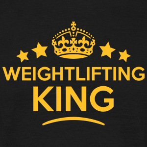 weightlifting king keep calm style crown T-SHIRT - Men's T-Shirt