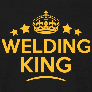 welding king keep calm style crown stars T-SHIRT - Men's T-Shirt