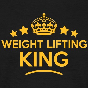 weight lifting king keep calm style crow T-SHIRT - Men's T-Shirt