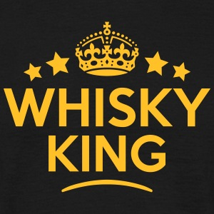 whisky king keep calm style crown stars T-SHIRT - Men's T-Shirt