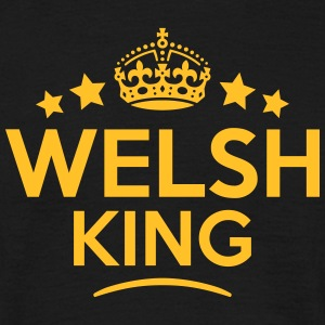 welsh king keep calm style crown stars T-SHIRT - Men's T-Shirt