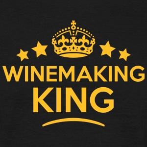 winemaking king keep calm style crown st T-SHIRT - Men's T-Shirt