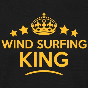 wind surfing king keep calm style crown  T-SHIRT - Men's T-Shirt