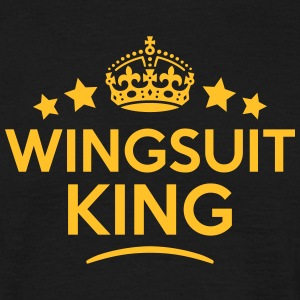 wingsuit king keep calm style crown star T-SHIRT - Men's T-Shirt