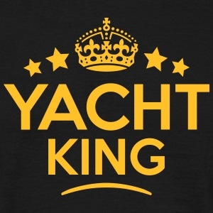 yacht king keep calm style crown stars T-SHIRT - Men's T-Shirt