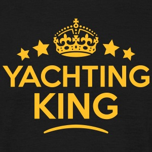 yachting king keep calm style crown star T-SHIRT - Men's T-Shirt
