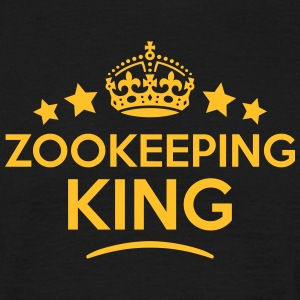 zookeeping king keep calm style crown st T-SHIRT - Men's T-Shirt