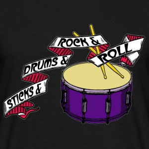 Sticks And Drums And Rock And Roll -Tattoo R - Männer T-Shirt