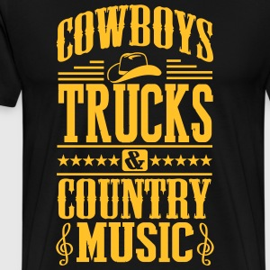 Cowboys trucks & country music T-Shirts - Männer Premium T-Shirt