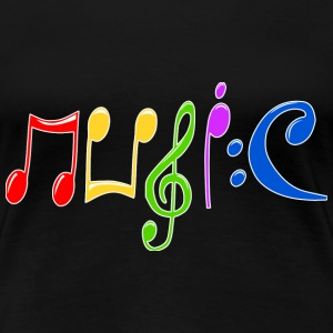 Music  T-Shirts - Frauen Premium T-Shirt