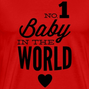 no1 baby in the world T-shirts - Premium-T-shirt herr