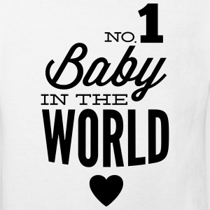 no1 baby in the world Shirts - Kinderen Bio-T-shirt