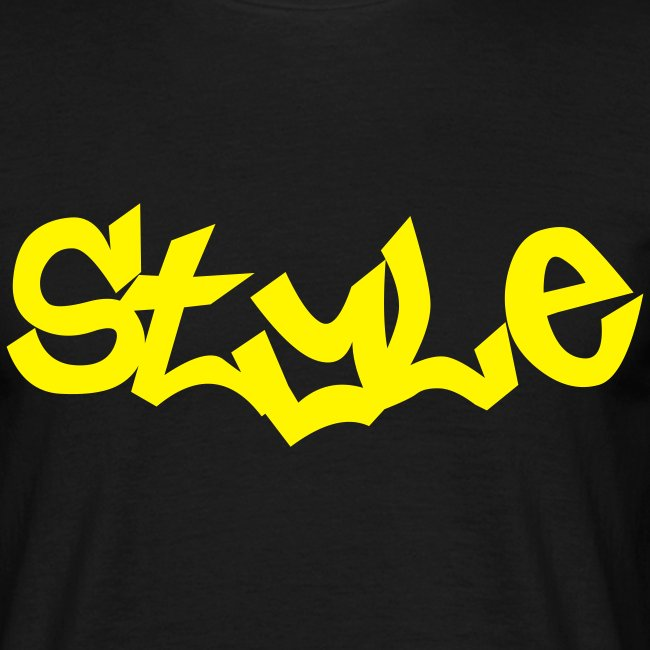 T-SHIRT STYLE Noir-Jaune