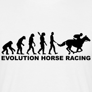 Evolution horse racing T-Shirts - Männer T-Shirt