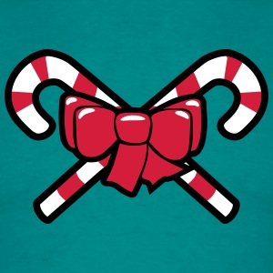 Christmas candy cane loop T-Shirts - Men's T-Shirt